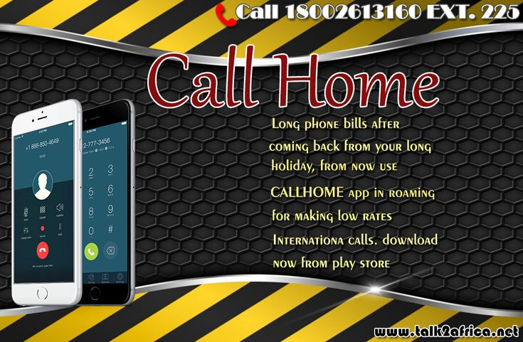 Long Phone bills after coming back from your long holiday?? from now use #CallHome app in Roaming for making low rates International call, Download our app from google play store