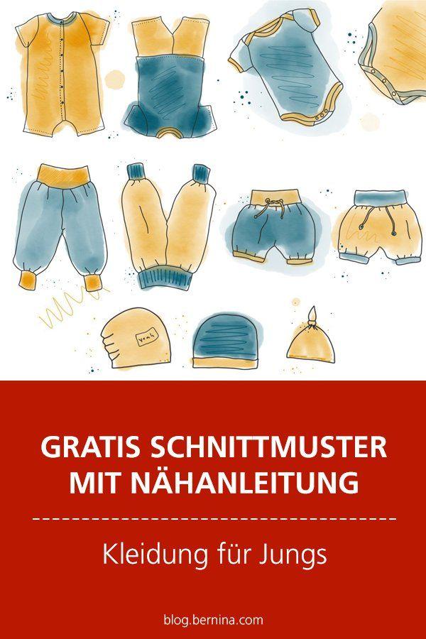 Gratis Schnittmuster mit Nähanleitung (Freebook): Kleidung für Jungen nähen