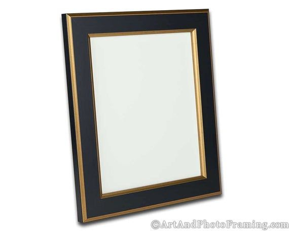 Black With Gold Picture Frame 1 5 Wide Photo Frame Flat Eco Friendly 4x6 5x7 8x10 8 5x11 12x12 In 2020 Gold Picture Frames Picture Frames Frame