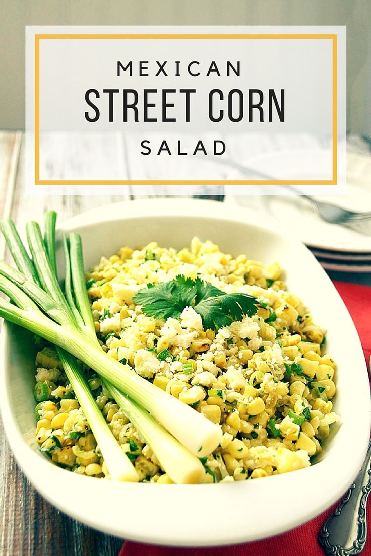 Mexican Street Corn Salad With sweet corn in season right now it only made sense that I make this amazing Mexican Street Corn Salad. #FreshFromFlorida ad #ic
