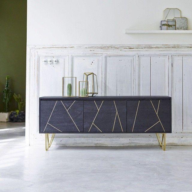 Meuble Tv En Manguier Liv Mobilier De Salon Deco Maison Meuble Tv