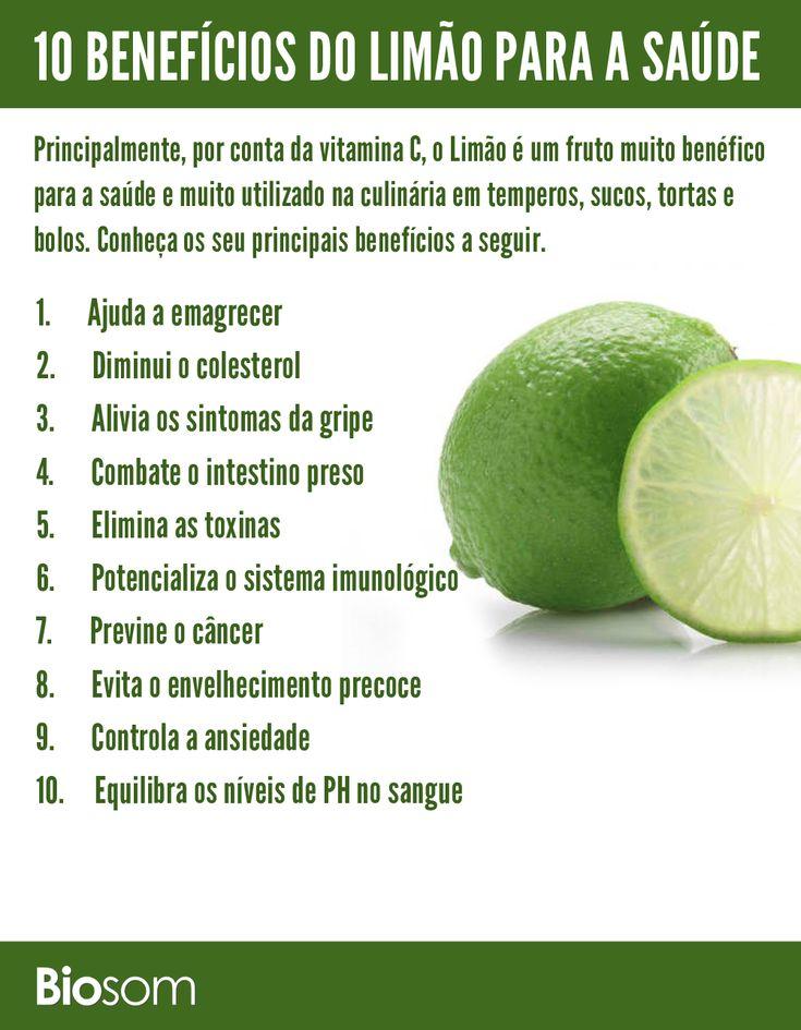 Clique na imagem para conheçar os detalhes dos 10 benefícios de limão para a saúde. #limão #bemestar #saúde #alimento #alimentação #alimentaçãosaudável