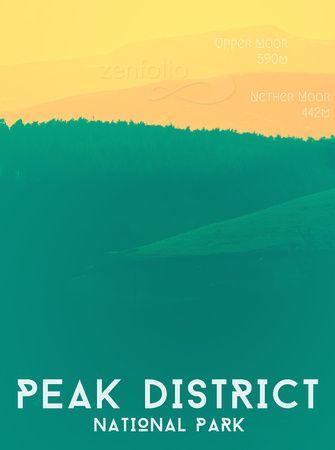 Peak District National Park Poster