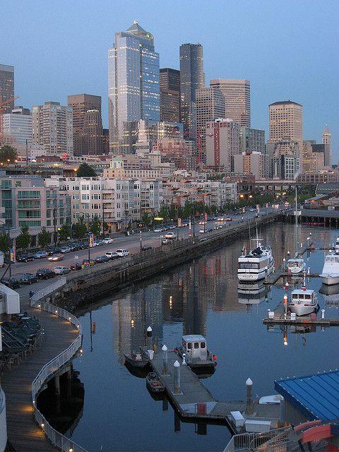 Seattle #Washington #AlaskaWay #bay