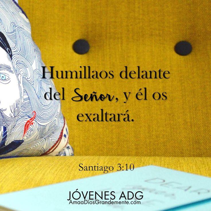 Humillaos delente del Señor, y él os exaltará . Santiago 3:11 #JovenesADG #AmaADiosGrandemente #LGG #Devocional #Estudiobiblicoenlinea #Estudiobiblicoparamujeres #Dios #ComunidadADG