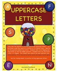 Here is a fun Uppercase Letters activity perfect for teaching uppercase letter recognition!