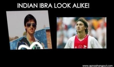 Funny Soccer Picture- Indian Ibrahimovic Look-alike | Apnaahangout