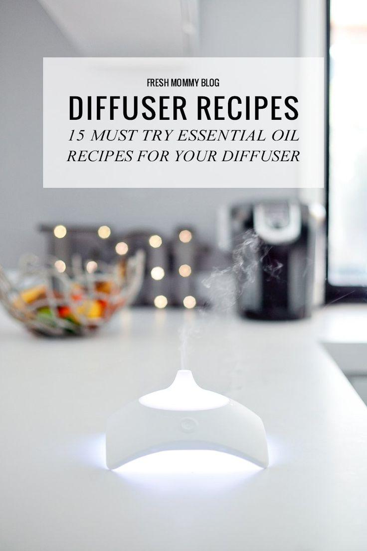 15 Essential Oil Recipes for your Diffuser. Use these in your BellaSentials Diffuser www.bellasentials.com