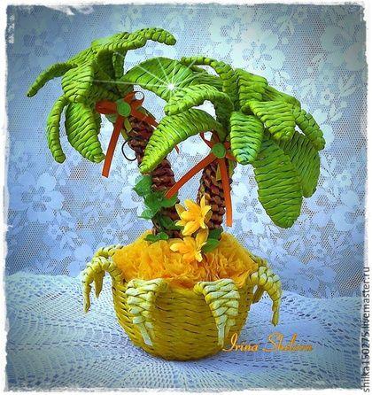 Топиарии ручной работы. Ярмарка Мастеров - ручная работа. Купить Топиарий Пальма. Handmade. Салатовый, подарок, для детей, пищевые красители