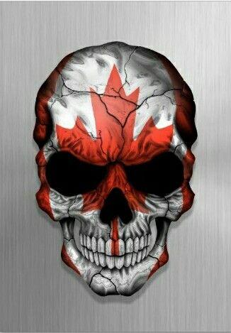 Skull w/ Canadian Flag