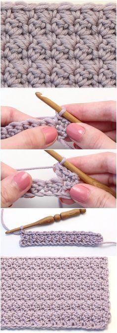 Crochê Modificado Sedge Stitch - Tutorial Fácil + Padrão Livre