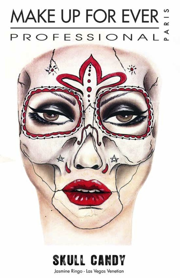 Halloween makeup ideas by MAKE UP FOR EVER - MUFE SKULL CANDY