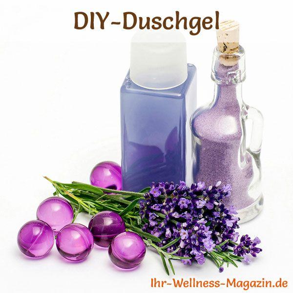 Duschgel selber machen - Duschgel Rezept für Lavendel Duschgel, es wirkt entspannend und beruhigend ...