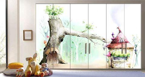Οι παστέλ αποχρώσεις της μέντας .... .....και του ροζ στο παιδικό δωμάτιο!  Αυτοκόλλητο Ντουλάπας: http://www.houseart.gr/select_use.php?id=80&pid=7720  #houseart #closet #pink #mint #kids_room #play_room #sticker