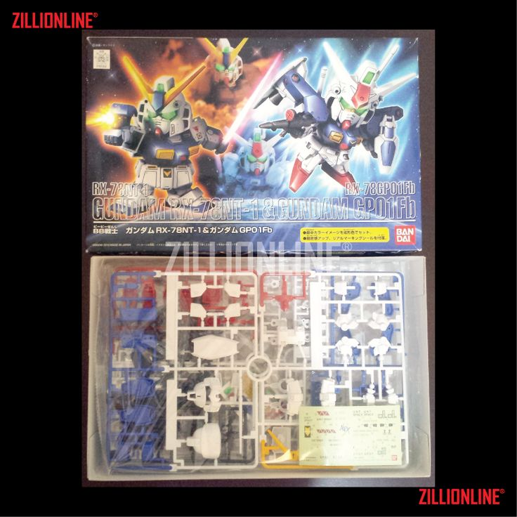 [MODEL-KIT] SD BB GUNDAM RX-78NT-1 & GUNDAM GP-01[Fb] SET. Item Size/Weight : 31 x 20 x 6 cm  / 305 g. (*ITEM SIZE & WEIGHT BEFORE PACKAGED). Condition: MINT / NEW & SEALED RUNNER. Made by BANDAI.