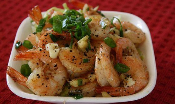 Deliciosa receita de camarões picantes