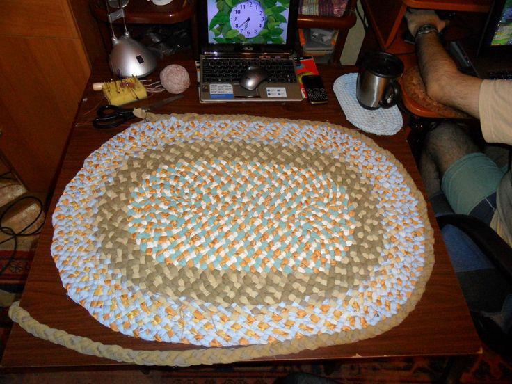 Плетеный коврик