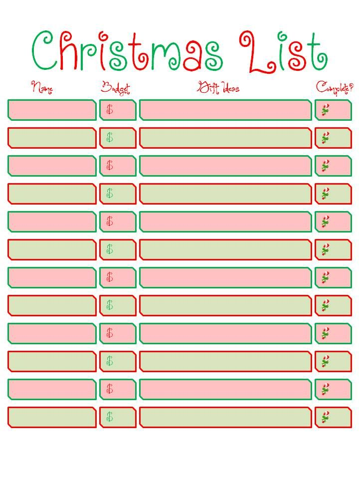 167 best Christmas images on Pinterest Christmas tree crafts - free printable christmas list template