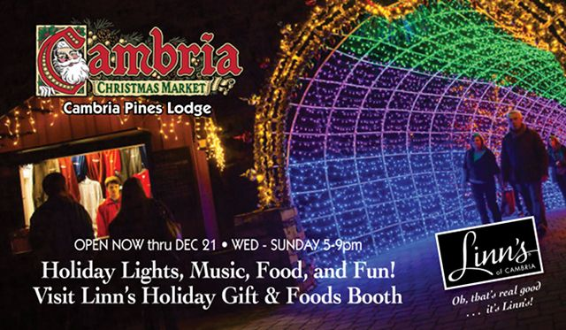 Visit the Linns Holiday Booth at the Cambria Christmas Market