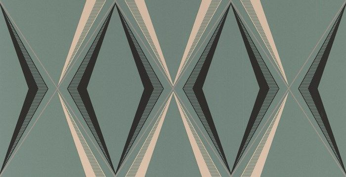 Deco Diamond Green Wallpaper by Graham and Brown