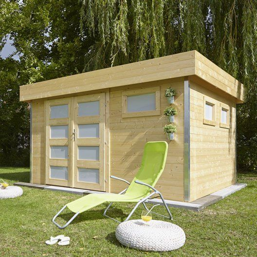14 best Abri jardin images on Pinterest Sheds, Gardening and Wood shed - construire un cabanon de jardin en bois