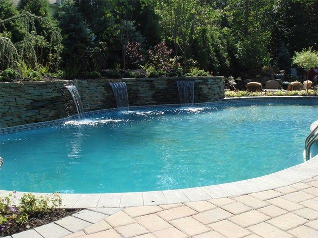 Swimming Pools With Waterfalls 505 best poolswaterfallslightsstacked stone wall images