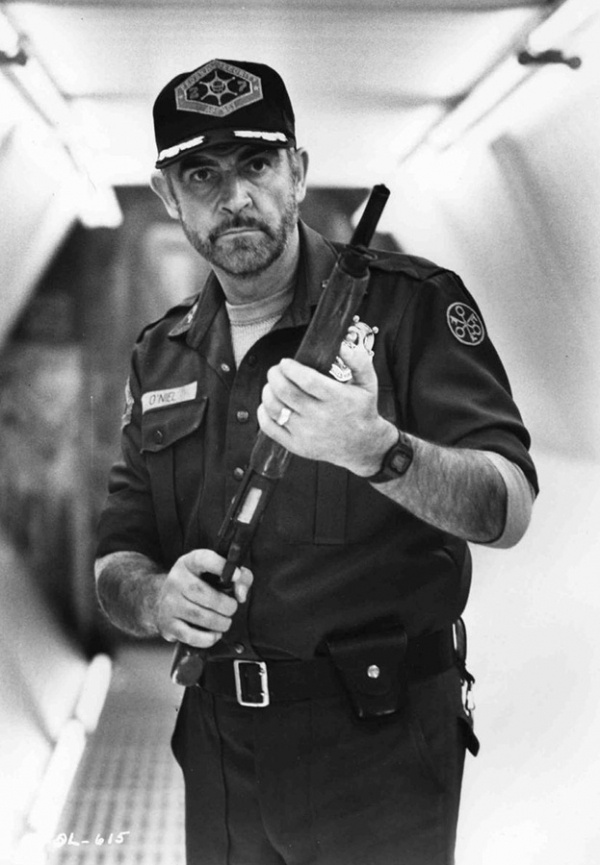 Sean Connery as Marshall O'Neil in Outland.