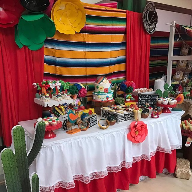 Alicia Emily Farias On Instagram Mexican Candy Table With A Lovely Table Skirt Tableskirt Mexican Mexican Candy Table Candy Table Decorations Mexican Candy