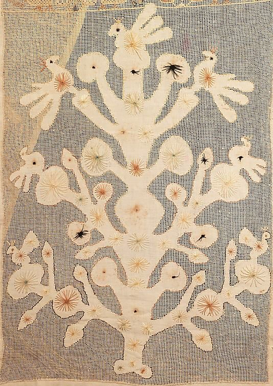 Textile Date: 1780–1820 Culture: Russian Medium: linen, silk Dimensions: 15 x 108 in. (38.1 x 274.3 cm) Credit Line: Brooklyn Museum Costume Collection at The Metropolitan Museum of Art.