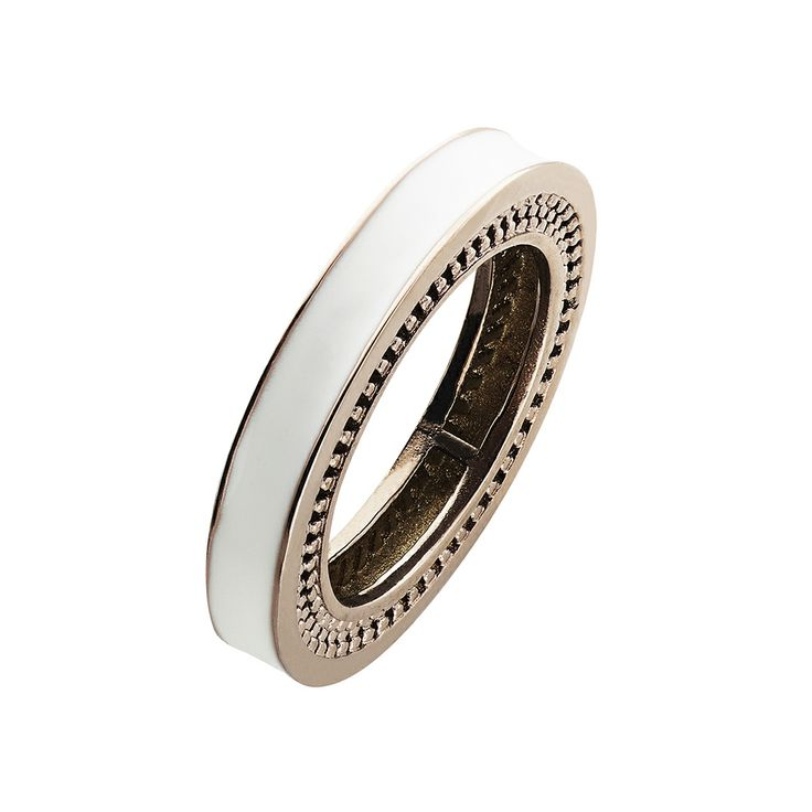 Oxettissimo White Ring - Available here http://www.oxette.gr/kosmimata/daktulidia/stainless-steel-rosegold-plated-ring-white-oxette674l-1/    #oxette #OXETTEring #jewellery