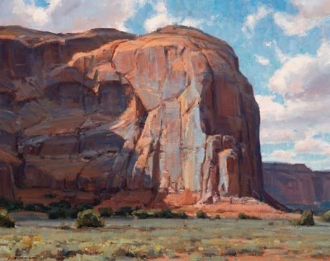 "Instagram: ""Clyde Aspevig, ""Monument Valley, AZ"", 24 x 30 oil. Estimate: $15,000-$25,000. Scottsdale Art…"""