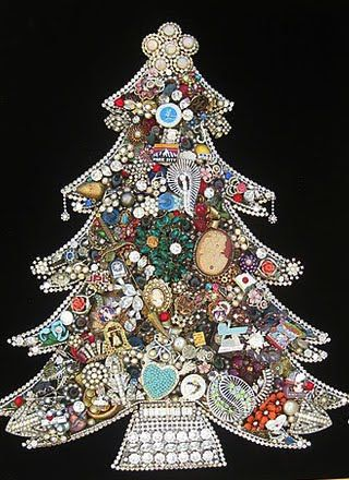 Tutorial for making jeweled Christmas trees.