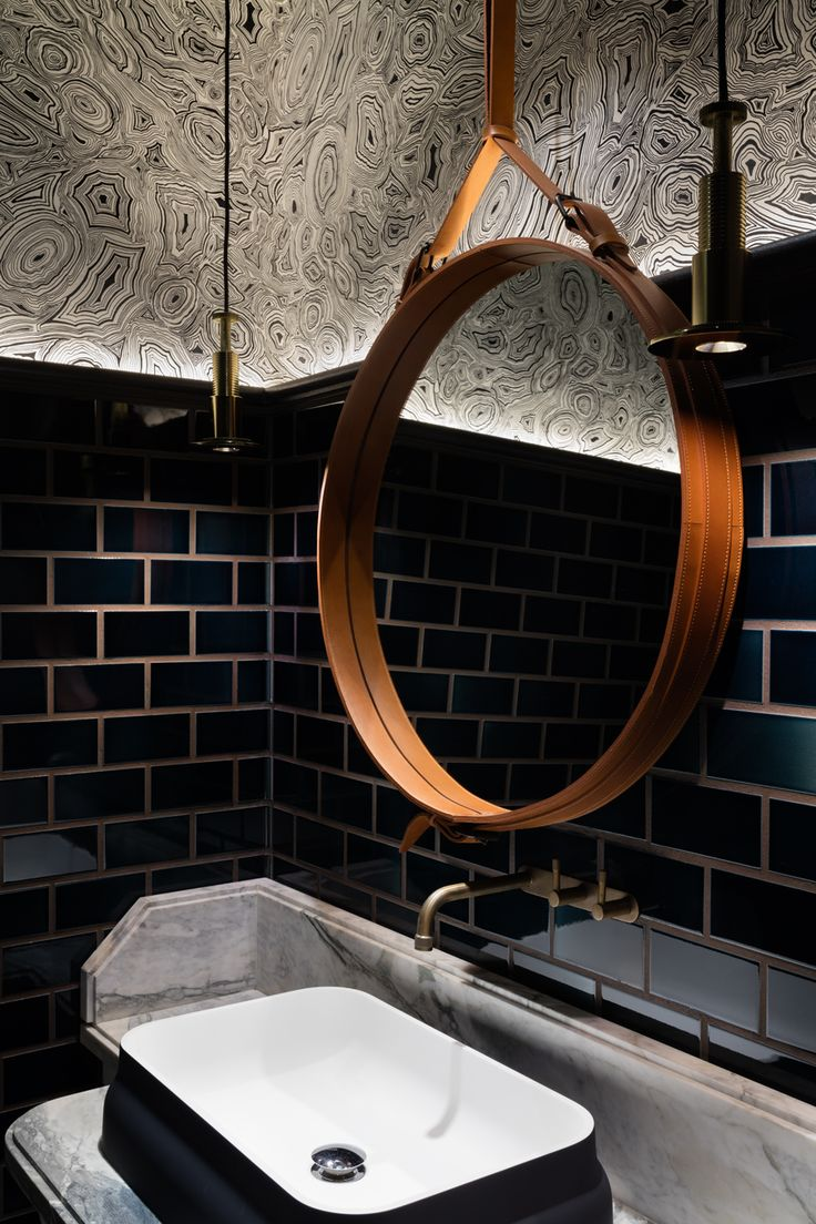 has us feeling all kinds of old Hollywood turned living color and a great example of why the powder room is an excellent space to wax dramatic with your design. Bathroom by House of Beast | Photo by Dennis Lo