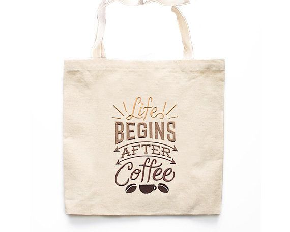 Life Begins After Coffee Tote Bag Market Tote Bags Canvas Tote Bag