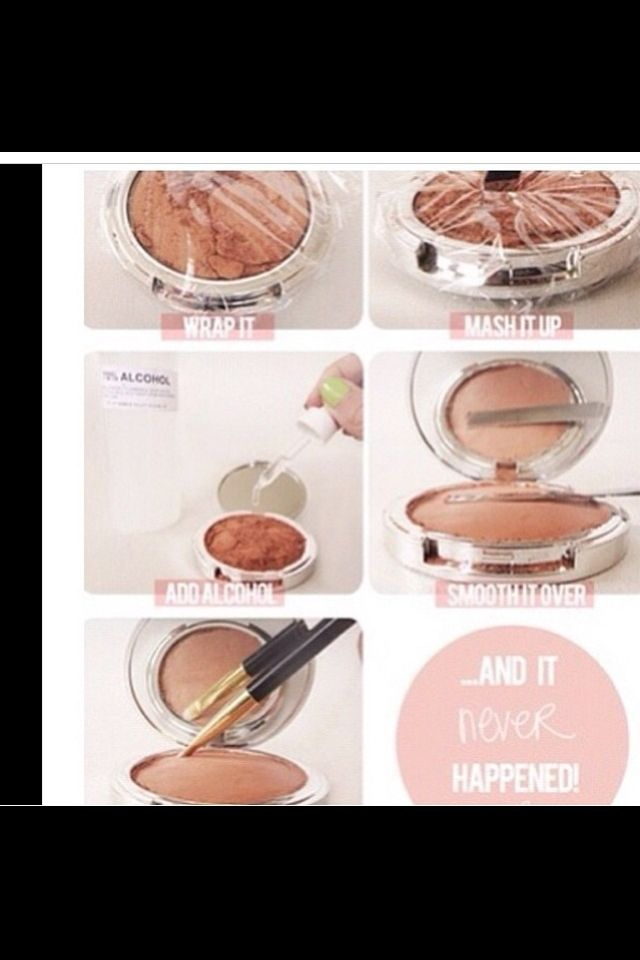 How to fix broken blush