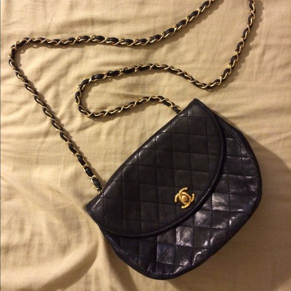 """Vintage Chanel Mini Flap Bag Signs of usage inside bag. Perfect condition outside. Bag was from the 50s used by my grandmother. Very elegant and perfect for special events. H 6"""" W 2"""" L 7"""" CHANEL Bags"""