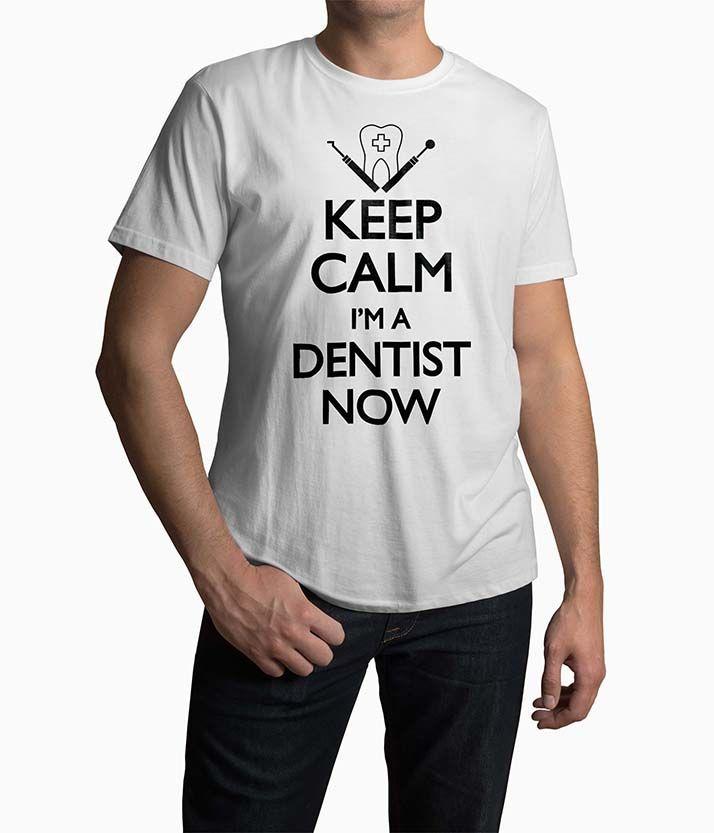 Tricou Barbati Personalizat Keep Calm I'm A Dentist Now