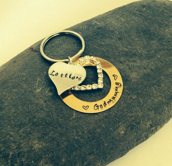 Personalised Brass Washer Keyring with a charm by CherryTreeCharm, £10.00