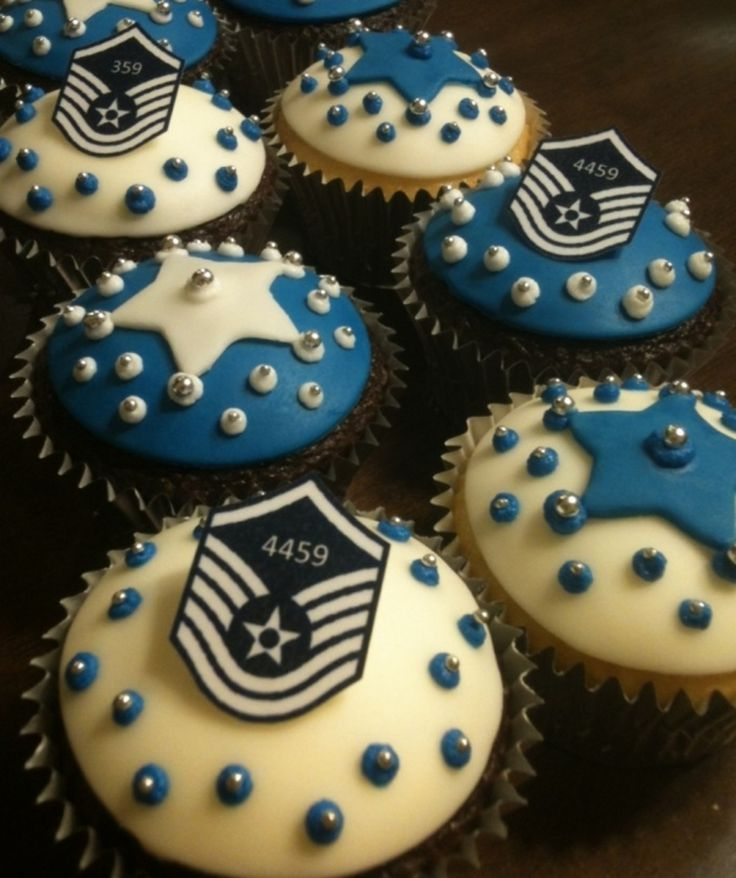 US Air Force  Promotion Cupcakes  on Cake Central