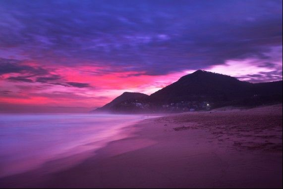 Stanwell Park Beach at sunset!  #StanwellPark #Beach #Wollongong #Illawarra