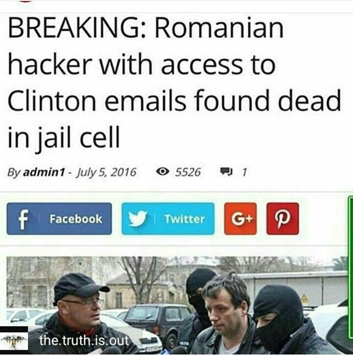 Clinton Email Hacker found dead July 5th