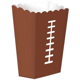 Add in some popcorn or snacks in these large football snack boxes 8ct./ Wally's Party Factory  #football #large #snack #boxes
