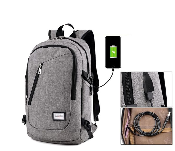 Anti-Theft Business Laptop Backpack with USB Charging