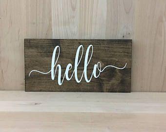 Hello wood sign, hello wall decor, hello home decor wall art, hello sign wood, hello wall hanging, hello office sign, hello wall art