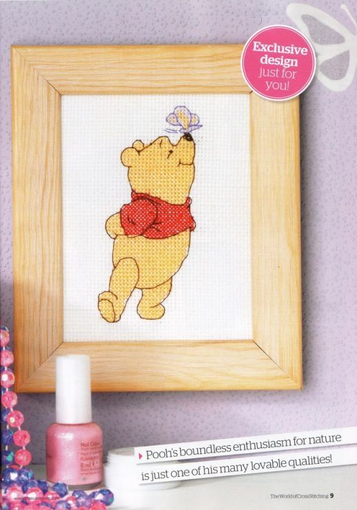 Winnie the Pooh Butterfly Kiss for Pooh The World of Cross Stitching Issue 153 August 2009 Saved
