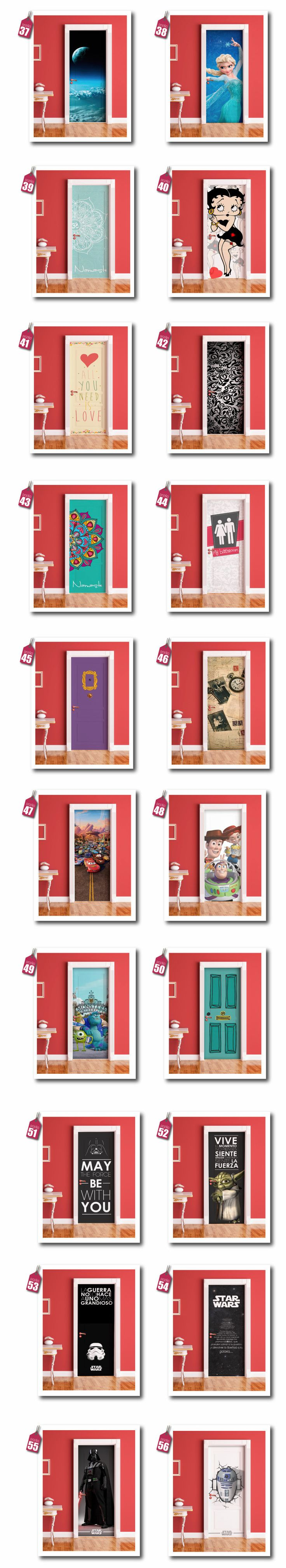 Vinilos Decorativos Para Puertas - Ploteos Personalizados - $ 490,00 en Mercado Libre