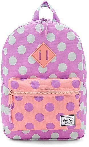 Herschel Supply Co. Heritage Kids Backpack in Lavender.  75ff2a35afd76
