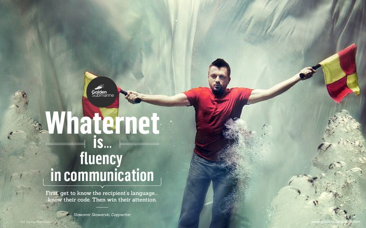 #whaternet is... fluency in communication. First, get to know the recipient's #language and #code. Then #win their attention.
