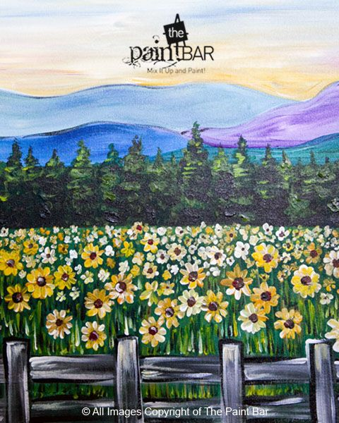 Vermont Field of Sunflowers Painting - Jackie Schon, The Paint Bar