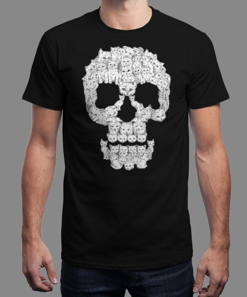 """Skulls Are For Pussies"" is today's £8/€10/$12 tee for 24 hours only on www.Qwertee.com Pin this for a chance to win a FREE TEE this weekend. Follow us on pinterest.com/qwertee for a second! Thanks:)"